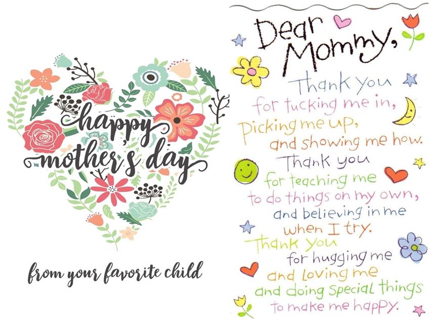 Mothers Day Greetings From Kid