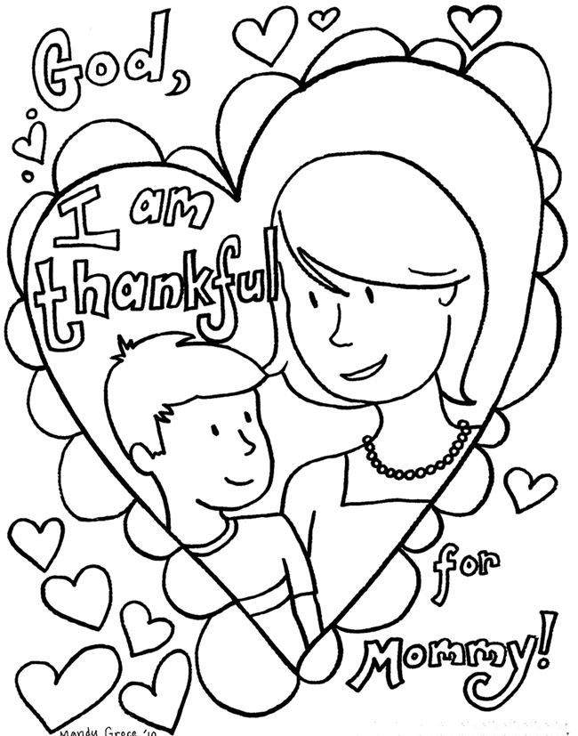 mothers day coloring pages2