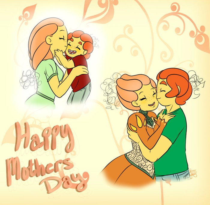 sweet animated happy mothers day image