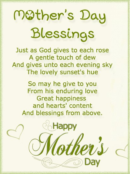 mothers day blessing prayer